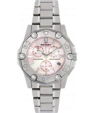 Rotary ALB90033-C-07 Damas de acero AQUASPEED reloj cronógrafo de los deportes