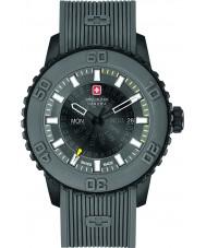 Swiss Military 6-4281-27-007-30 Para hombre reloj de la correa de silicona crepúsculo gris