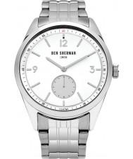 Ben Sherman WB052SM Reloj para hombre pulsera de acero de plata conductor carnaby