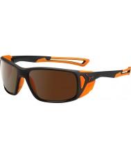 Cebe naranja negro mate Proguide 2000 gafas de sol de espejo de destello de color marrón