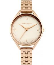 Karen Millen KM130ERGM Damas se levantaron reloj pulsera chapado en oro