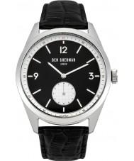 Ben Sherman WB052WB carnaby controlador de cuero para hombre negro reloj de la correa