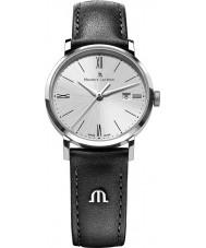 Maurice Lacroix EL1084-SS001-110-1 Damas Eliros reloj de plata y cuero negro de la correa
