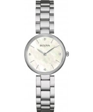 Bulova 96S159 Señoras de la galería de diamante de acero de plata reloj pulsera