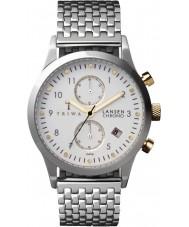 Triwa LCST106-BR021212 Lansen Marfil acero de plata reloj pulsera cronógrafo