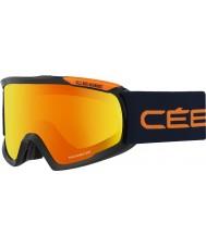Cebe CBG95 Fanático l negro y naranja - gafas de esquí de fuego de destello naranja