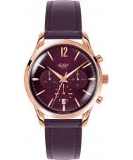 Henry London HL39-CS-0092 Damas Hampstead reloj cronógrafo púrpura