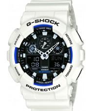 Casio GA-100B-7AER Mens g-shock tiempo del mundo reloj de correa de resina blanca