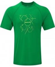 Ronhill RH-002472Rh-00236-S Mens zancada hexagonal ss camiseta