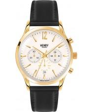 Henry London HL41-CS-0018 reloj cronógrafo negro champán para hombre pálido Westminster