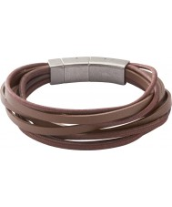 Fossil JF86202040 Para hombre de pulsera de múltiples marrón