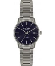 Rotary GB02874-05 reloj azul de plata para hombre relojes vengador