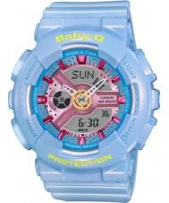 Casio BA-110CA-2AER Señoras baby-g tiempo del mundo reloj de correa de resina azul