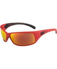 Bolle Retroceder las gafas de sol de fuego de color rojo mate tns polarizada