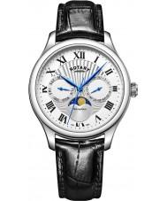 Rotary GS05065-01 relojes para hombre reloj cronógrafo Fase lunar negro