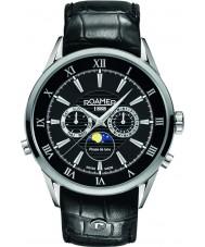 Roamer 508821-41-53-05 Reloj para hombre de la correa de cuero negro moonphase superiores
