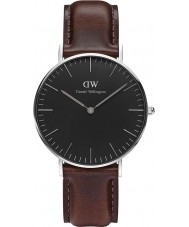 Daniel Wellington DW00100143 Reloj clásico negro 36mm Bristol