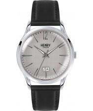 Henry London HL41-JS-0081 reloj negro de rayado gris para hombre de Piccadilly