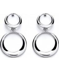 Purity 925 PUR1784ED Abierto Femenino de bucles pendientes de plata de ley