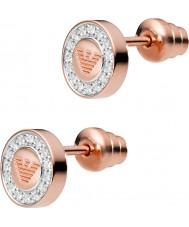 Emporio Armani EG3054221 Señoras de 18 quilates águila pura chapado en oro rosa pendientes