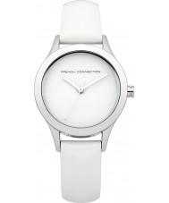 French Connection FC1206W Señoras de todas reloj de la correa de cuero blanco