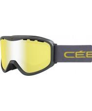 Cebe CBG71 Cresta verde OTG - gafas de esquí espejo de destello amarillo
