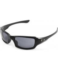 Oakley Oo9238-04 cinco cuadrado negro pulido - gafas de sol grises
