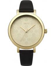 Oasis B1544 reloj de la correa de cuero negro de las señoras
