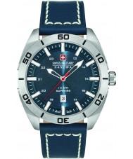 Swiss Military 6-4282-04-003 reloj de la correa de cuero azul para hombre champ
