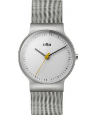 Braun BN0211WHSLMHL Damas de acero de plata del reloj de pulsera de malla delgada clásica