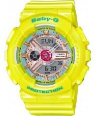 Casio BA-110CA-9AER Señoras baby-g tiempo del mundo reloj de correa de resina de color amarillo