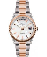 Rotary GB02662-06 relojes para hombre de La Habana rosa de plata reloj de oro