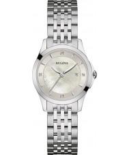 Bulova 96S160 Señoras de la galería de diamante de acero de plata reloj pulsera