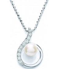 Purity 925 PUR1811P Las señoras de perlas de agua dulce collar de plata con la CZ