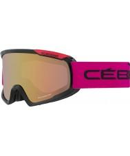 Cebe CBG99 Fanático m negro y rosa - rosa de la luz del flash de oro gafas de esquí