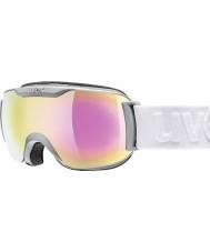 Uvex 5504375026 Downhill 2000 pequeña película mate del carbón - gafas de esquí de espejo de color rosa