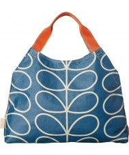 Orla Kiely 17SELIN349-4295-00 Señoras bolsa de viaje madre gigante lineales