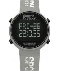 Superdry SYL203E Damas podómetro digi reloj correa de silicona gris