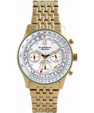 Krug-Baumen 400101DM Mens airmaster diamante del reloj de oro blanco