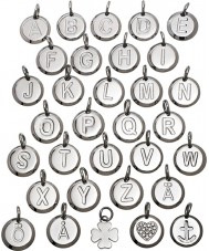 Edblad 116130237-R Charmentity r de acero de plata pequeño colgante