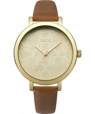Oasis B1545 reloj de la correa de cuero marrón de las señoras