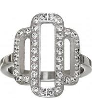 Edblad 31630029-M Las señoras Elvira anillo de acero de plata - tamaño de p (m)