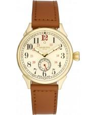 Minster 1949 MN03GLGL10 Mens boyland reloj de la correa de cuero marrón