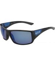 Bolle Notechis mate negro azul gafas de sol azules brillantes en alta mar polarizadas