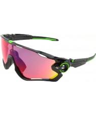 Oakley jawbreaker Oo9290-10 pulido negro - Gafas de sol de la carretera prizm Cavendish