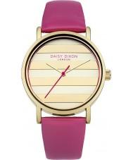 Daisy Dixon DD009PG Las señoras de la amapola de reloj de la correa de cuero de color rosa de oro