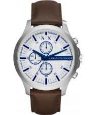 Armani Exchange AX2190 reloj cronógrafo de cuero marrón oscuro vestido de los hombres