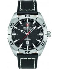 Swiss Military 6-4282-04-007 reloj de la correa de cuero negro para hombre champ