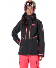 Picture WVT068-BLANP-XS Señoras exa neón negro de la chaqueta de color rosa - el tamaño de xs