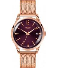 Henry London HL39-M-0078 Damas Hampstead Purple Rose reloj de oro